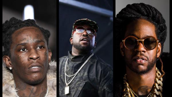 From left: Young Thug, Big Boi and 2 Chainz.