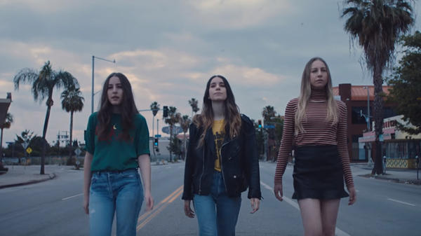 "A still from HAIM's ""Want You Back"" video."