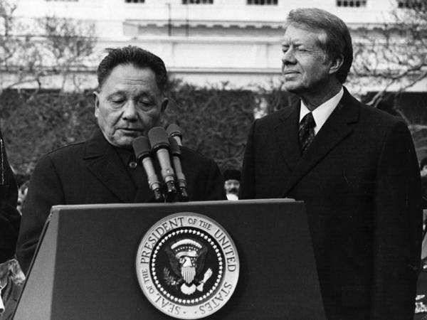 In 1979, Chinese leader Deng Xiaoping came to the U.S. seeking assistance from President Carter to help open China's economy. For U.S. executives to invest in China they'd want a golf course there.