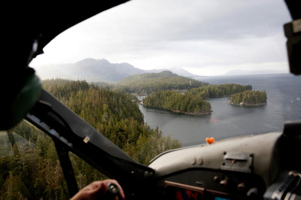The mail plane flies into Meyers Chuck. Meyers Chuck is off the grid, with no roads or cars; just a sprinkling of houses on the water.