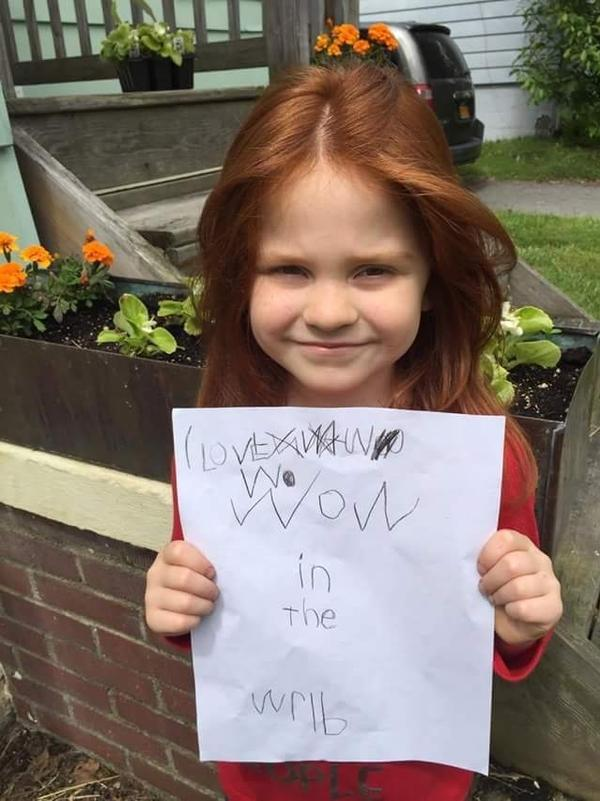 Emilia, age 5 from Ellenville, NY