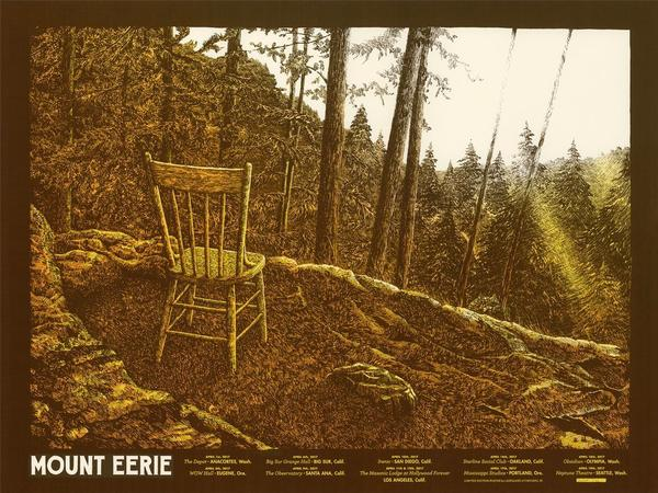 A poster for Mount Eerie's West Coast tour