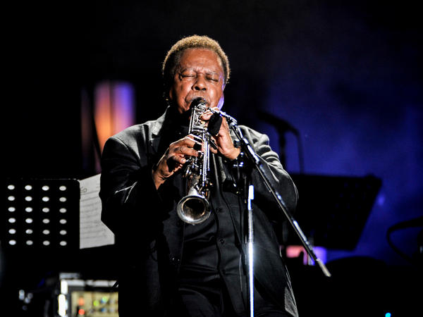 Wayne Shorter performs in 2014