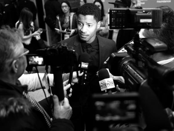 Nate Parker attends the <em>The Birth Of A Nation</em> premiere during the 2016 Sundance Film Festival.