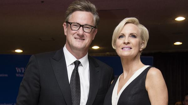 MSNBC <em>Morning Joe</em> hosts Joe Scarborough and Mika Brzezinski arrive at the 2015 White House Correspondents' Association annual dinner.