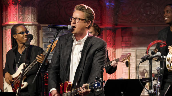 Joe Scarborough plays <em>The Late Show with Stephen Colbert</em> on February 21, 2017.