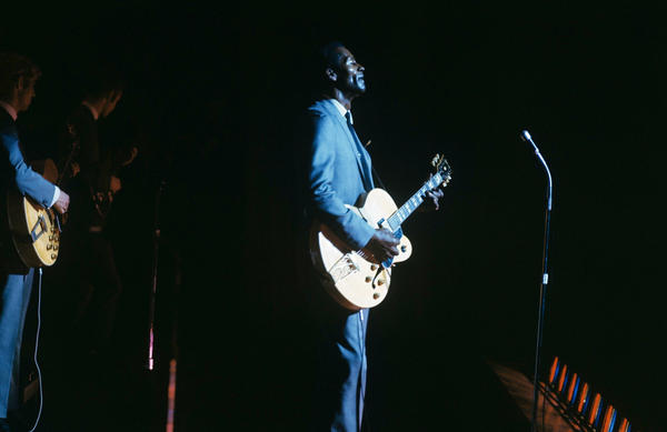Chuck Berry on stage in London in 1965. Berry died March 18, 2017, at the age of 90.