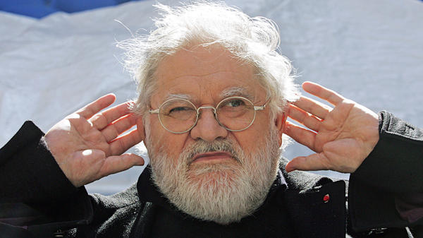 Pierre Henry in 2007, at the Saint-Joseph school in southern France. The <em>musique concrète </em>innovator died this week at the age of 89.