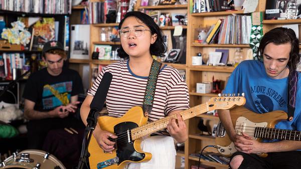 Jay Som performs a Tiny Desk Concert on June 7, 2017. (Liam James Doyle/NPR)