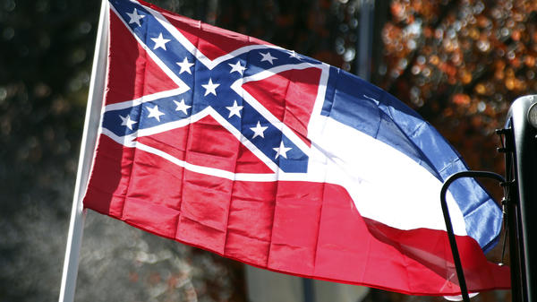 Mississippi's state flag includes a Confederate battle symbol.