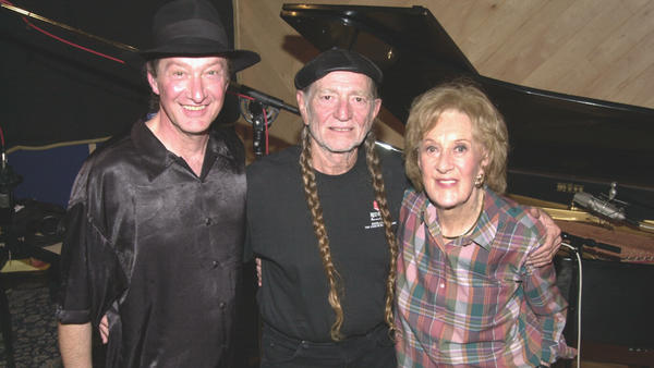 From left to right: Jackie King, Willie Nelson and Marian McPartland.