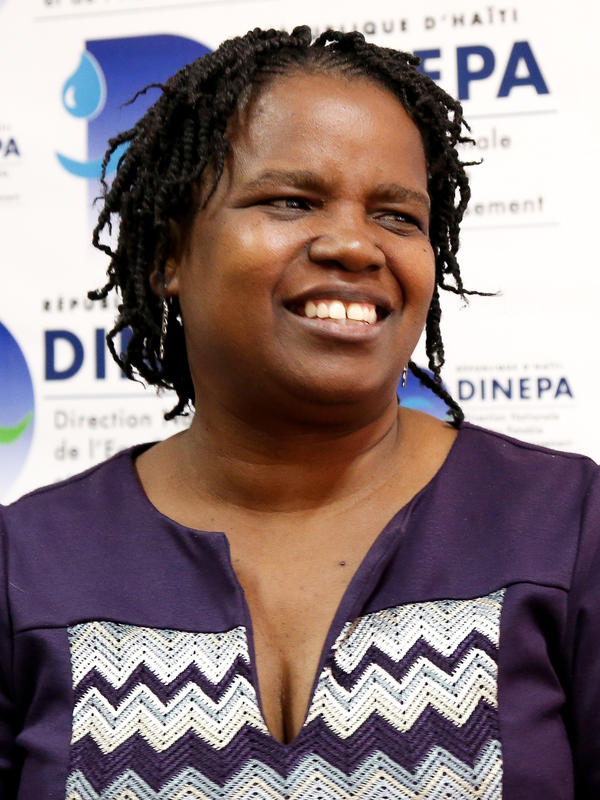 Edwige Petit, the director of sanitation for Haiti's water and sanitation agency DINEPA, is in charge of planning and building internationally funded sewage treatment plants.