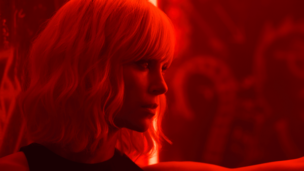 Agent Lorraine Broughton (Charlize Theron) sees red in <em>Atomic Blonde</em>.