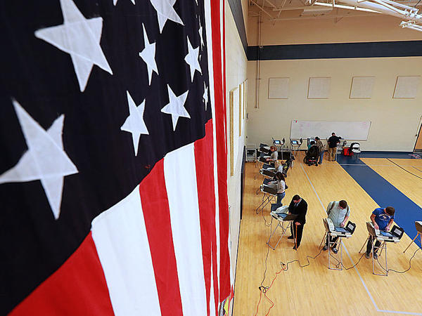 Voters at an elementary school in Provo, Utah on Nov. 8, 2016.