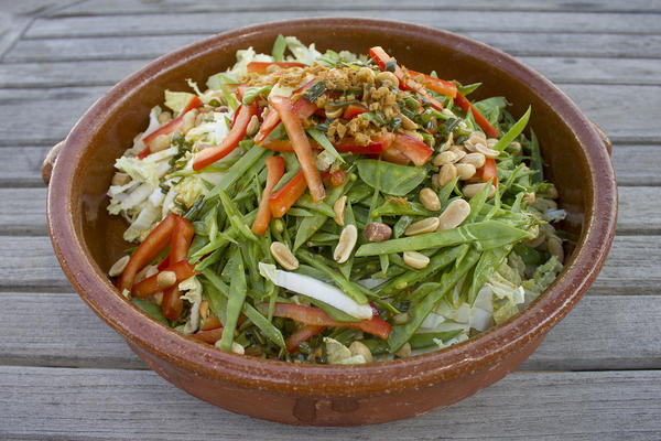 Kathy's Asian-style slaw. (Jackson Mitchell/Here & Now)
