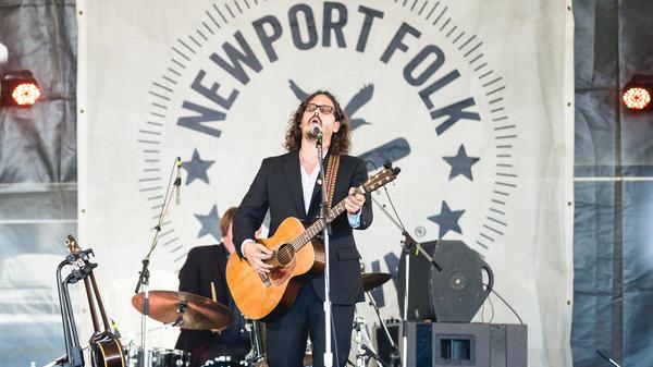 John Paul White performs at the 2017 Newport Folk Festival.