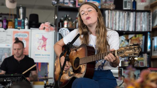 Maggie Rogers performs a Tiny Desk concert at NPR headquarters.