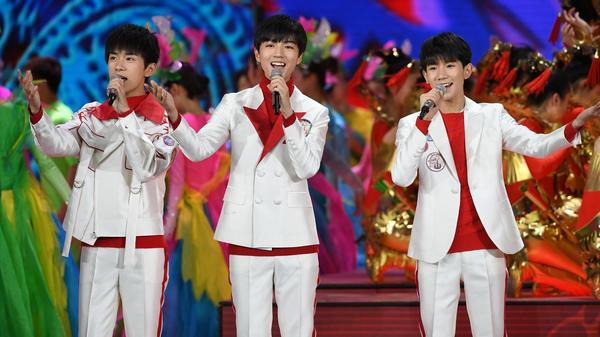"""Chinese boyband TFBoys' song """"Go!AMIGO"""" is a big hit in China this summer."""