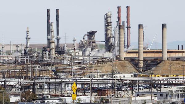 An oil refinery in Richmond, Calif.