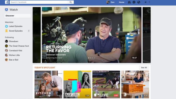 The new Watch platform is Facebook's big to organize online video into marketable shows.
