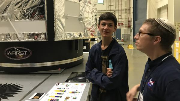 Murad touring NASA's Goddard Space Flight Center with astrophysicist Jeremy Schnittman.