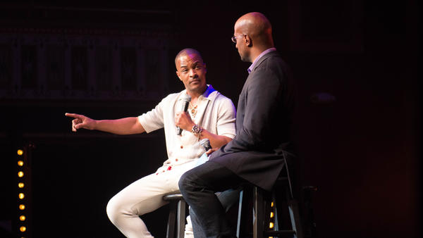 Van Jones engages with rap artists like Atlanta's T.I. on each stop of the activist's WE RISE tour.