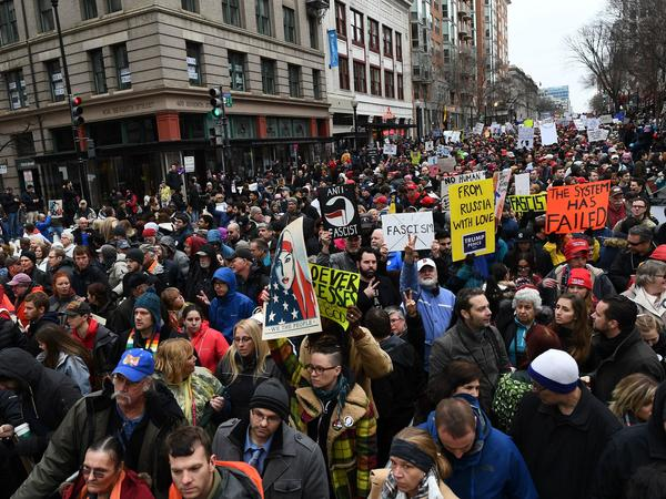 The Department of Justice has issued a warrant for a web hosting company to turn over all records related to the website of #DisruptJ20, a group that organized actions to spoil President Trump's inauguration in January.