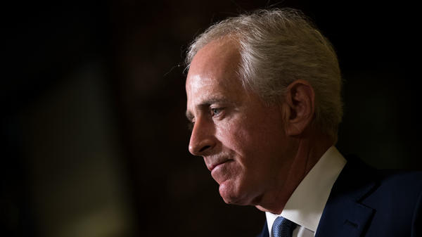 Sen. Bob Corker, R-Tenn., speaks to reporters after meeting with President-elect Donald Trump at Trump Tower on Nov. 29, 2016.