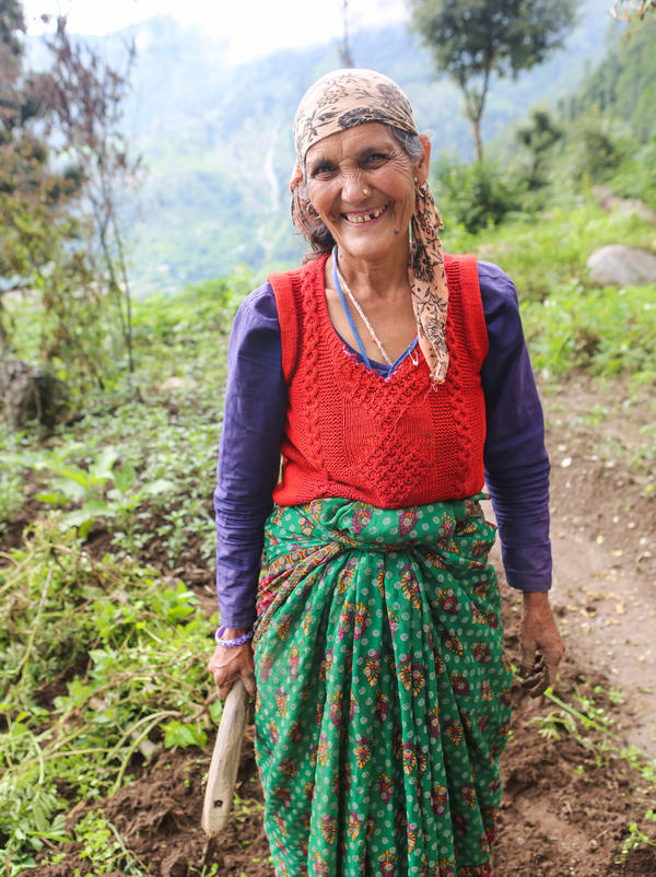 Surji Devi, 60, is a farmer in the village of Huddu in Uttarakhand.