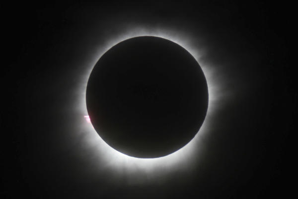 This March 9, 2016 file photo shows a total solar eclipse in Belitung, Indonesia. (AP Photo)