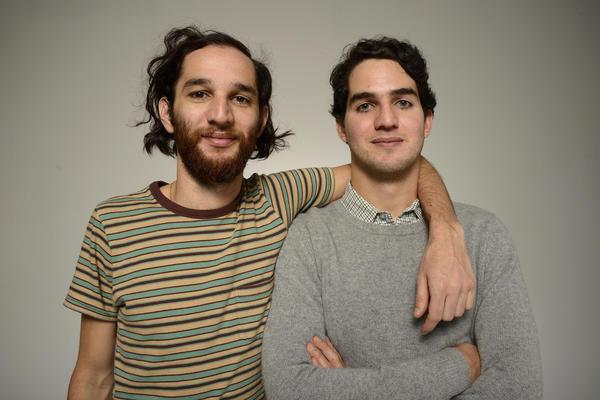 Brothers Josh (left) and Benny Safdie are the directors of the new action thriller <em>Good Time.</em>