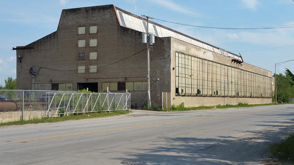 This building is one of the last two remnants of the century-old Wyman-Gordon factory where workers produced parts for military and commercial aircraft. The factory closed in 1986 and 350 workers lost jobs.