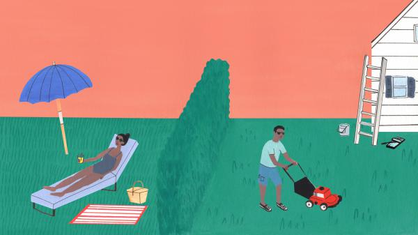 Mowing the lawn can be good exercise, and is fun for some people. But others who find themselves squeezed for time might find the luxury of paying someone else to do it to be of much more value than buying more stuff.