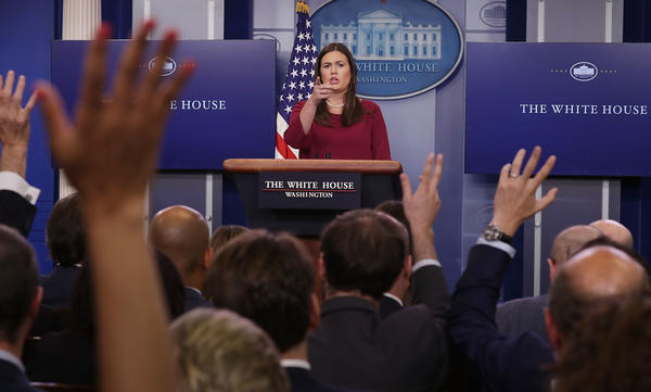 White House press secretary Sarah Huckabee Sanders told reporters that President Trump will be donating $1 million of his own money to Harvey relief in Texas and Louisiana.