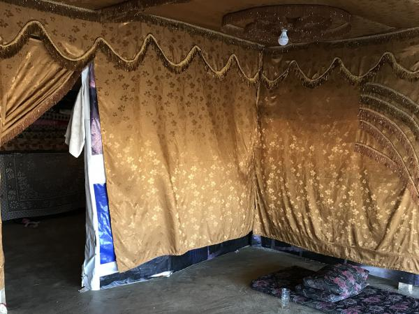 After fleeing from the war in Syria, the Jassem family sought refuge in Lebanon, where they've made a home inside a plastic tent.