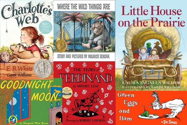 "Children's titles mentioned in Bruce Handy's book ""Wild Things: The Joy of Reading Children's Literature as an Adult."""