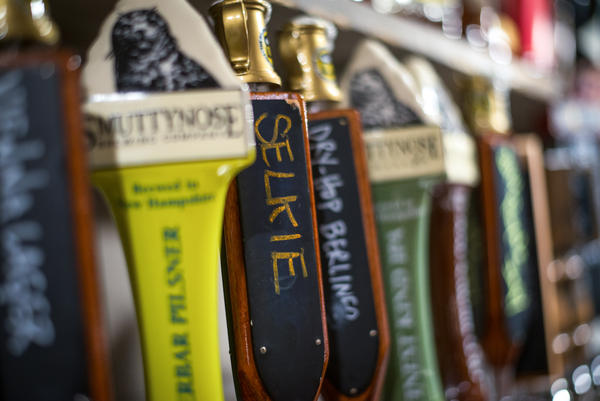 "At the Portsmouth Brewery in New Hampshire, the kelp beer ""Selkie"" is sold both on tap and in bottles."