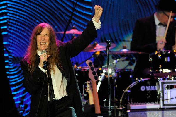 Recording artist Patti Smith performs at a Pre-GRAMMY Gala in Beverly Hills, Calif. (Chris Pizzello/AP)