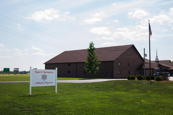 Road to Redemption holds a weekly free dinner and support meeting at a church in Muncie, Ind.