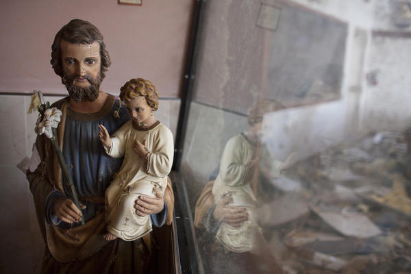 The congregation plans to gather outside its demolished church on Sunday and celebrate the first mass since the storm.