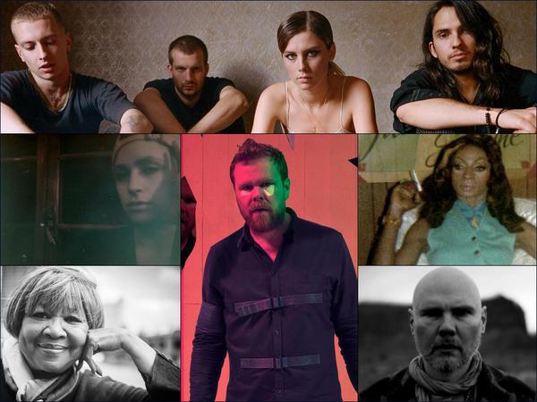 IMAGEClockwise from upper left: Wolf Alice, Jackie Shane, William Patrick Corgan, Loney Dear, Mavis Staples, Flikka