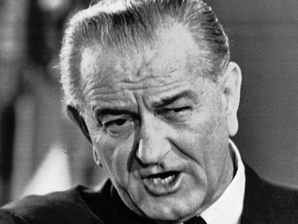 "This is a Nov. 17, 1967 file photo of former president Lyndon B. Johnson. That year a commission Johnson had organized to come up with recommendations for how to win his ""war on crime"" issued their report. The legacy of some of those recommendations can be seen today."