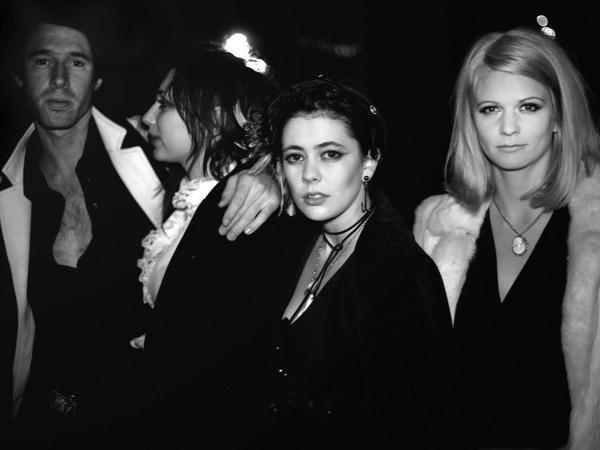 The band Those Darlins. The group's co-frontwoman, Jessi Zazu (center, facing camera) has died, age 28.