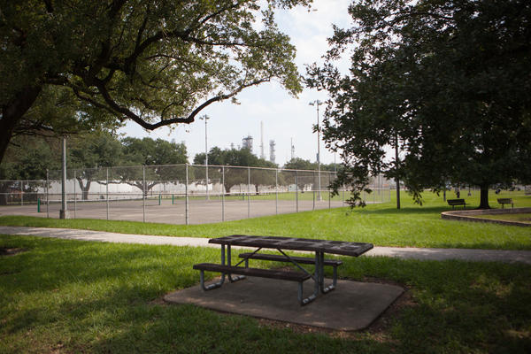 "Hartman Park in the Manchester neighborhood of Houston.The overall air quality problem in the city ""is ongoing,"" with high levels of ozone as well, which can exacerbate respiratory symptoms. People who are most at risk, such as elderly people or people who already have respiratory diseases, need to be careful breathing outside air."