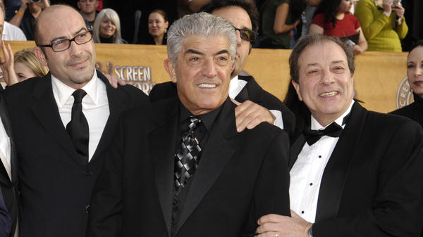 Frank Vincent, seen here in 2007 with colleagues from <em>The Sopranos</em>, has died in New Jersey.