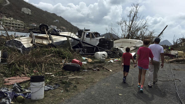 After Hurricane Irma passed last week, a group of survivors take stock of the damage on Tortola, in the British Virgin Islands.