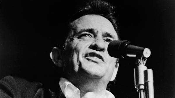 A 1969 headshot of singer and songwriter Johnny Cash.