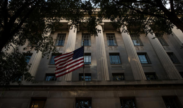 An exterior view of the U.S. Department of Justice headquarters in Washington, D.C., in July. Members of the DOJ were among those who attended a roundtable on Thursday about the criminal justice system and helping ex-inmates re-enter into society.