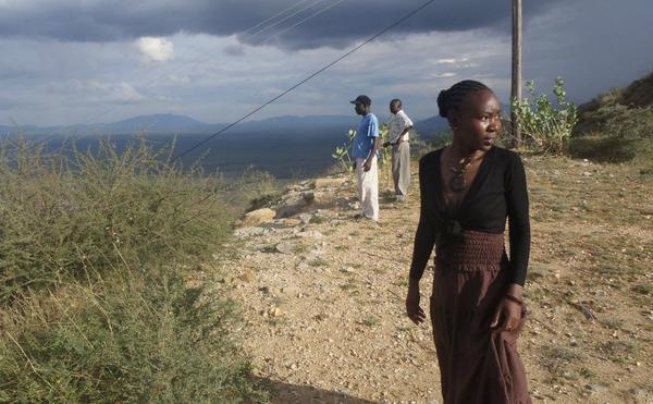 Kenyan journalist Jacque Ooko on assignment in Kenya.