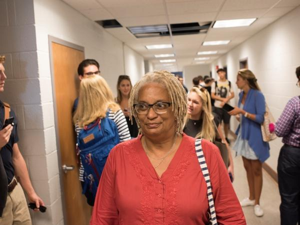 Melisande Short-Colomb, 63, is a descendant of slaves sold by the Jesuits to fund Georgetown University. She's enrolled as a freshman there and plans to major in African-American studies.